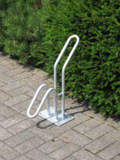 Fahrrad-Rohrparker als  Einzelparker, tief, Verpackungseinheit 3 Stück