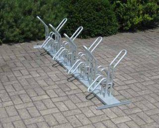 Fahrrad-Rohrparker als Reihenparker 8 Radeinstellplätze doppelseitig