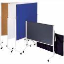 Franken Moderatorentafel, einteilig, 150 x 120 cm, Filz blau
