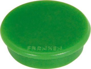 Franken Haftmagnete, Farbe grün, Durchmesser 24mm, 10er Pack