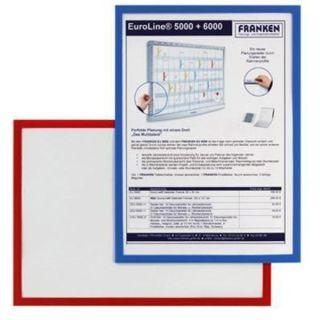Franken Dokumentenhalter, für DIN A3, magnetisch, blauer Rand
