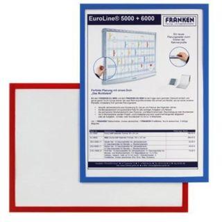 Franken Dokumentenhalter, für DIN A5, magnetisch, blauer Rand
