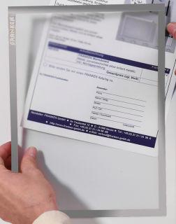 Franken Dokumentenhalter, für DIN A3, magnetisch, grauer Rand