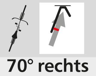 Fahrrad-Hängeparker 3971, für ein Fahrrad, Einstellwinkel 70° rechts