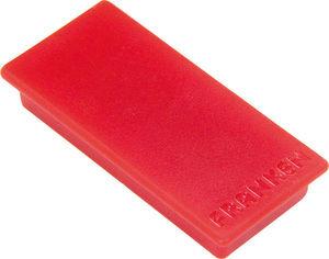 Rote Franken Haftmagnete, rechteckig, 23 x 50 mm, Haftkraft je Magnet 1000 g, 10er Pack