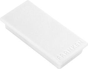 Weiße Franken Haftmagnete, rechteckig, 23 x 50 mm, Haftkraft je Magnet 1000 g, 10er Pack