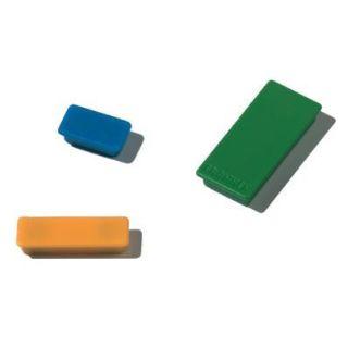 Farblich gemischte Franken Haftmagnete, rechteckig, 23 x 50 mm, Haftkraft je Magnet 1000 g, 10er Pack