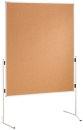 Moderationstafel ECO, 120 x 150 cm, braun/Kork, braun/Kork
