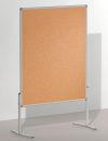 Moderationstafel PRO, 120 x 150 cm, braun/Kork, braun/Kork