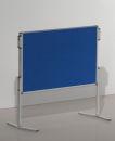Moderationstafel PRO, 120 x 150 cm, blau/Filz, blau/Filz.