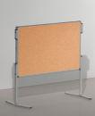 Moderationstafel PRO, 120 x 150 cm, braun/Kork, braun/Kork.