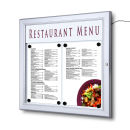 SCZ - Outdoor LED Menu Case 2 x A4 Speiseschaukasten...