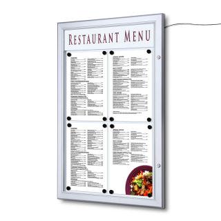 Restaurant etc. abschlie/ßbar DIN A 1 Sicherheitsglas Schaukasten f/ür den Innenbereich 4 Gr/ö/ßen zur Wahl Infokasten//Aushang f/ür Schule
