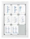 Schaukasten T - Premium 6 x A4 weiss (RAL9003), für...