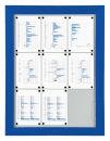 Schaukasten T - Premium 6 x A4 blau (RAL5010), für...