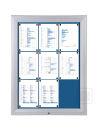 Schaukasten T - Premium 8 x A4, Textil blau, für den...
