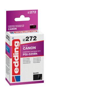 edding EDD-272 schwarz Tintenpatrone ersetzt Canon PGI-525 BK