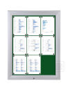 Schaukasten T - Premium 18 x A4, Textil grün