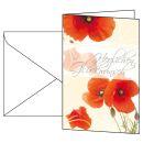 10 sigel Glückwunschkarten Red Poppies