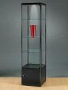 Glasvitrine MPC 500-O schwarz eloxiert, mit Beleuchtung...