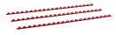 Plastikbinderücken, US-Teilung, Farbe: Rot,...