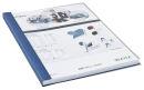 10 LEITZ Buchbindemappen blau Rückenbreite: 10,5 mm