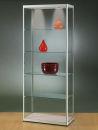 Glasvitrine MPC 800-Tech, silber mit Beleuchtung und 2...