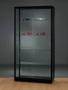 Glasvitrine WME 1000 schwarz eloxiert