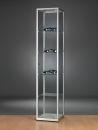 Glasvitrine WMS H400-Tech, silber