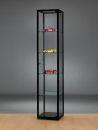 Glasvitrine WMS H400 schwarz eloxiert