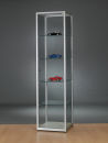 Glasvitrine WMS H500-Tech, silber