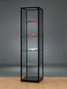 Glasvitrine WMS H505 schwarz eloxiert