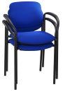 2 NOWY STYL Besucherstühle, blau/schwarz