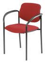 2 NOWY STYL Besucherstühle, rot, Gestell: schwarz