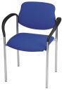 2 NOWY STYL Besucherstühle, blau, Gestell chromfarben