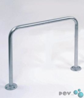 Fahrrad-Anlehnbügel 9121, Länge 120 cm, zum Aufdübeln
