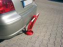Anfahrsichere Parkplatzsperre 70x70 mm, umlegbar mit...