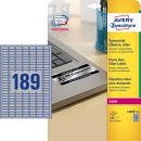 3.780 AVERY Zweckform Typenschildetiketten L6008-20 silber