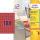 3.780 AVERY Zweckform Etiketten L6036-20 rot
