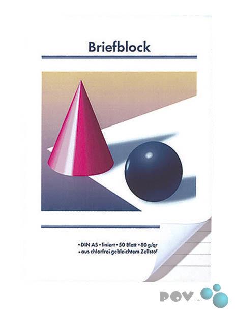 10 Briefblöcke Blöcke Briefblock Schreibblock Kugel und Kegel A5 kariert