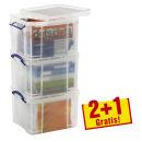 2+1 GRATIS: Really Useful Box Kunststoffboxen 3x 35,0 l...