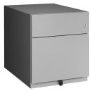 BISLEY Rollcontainer, silber