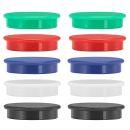 10 Magnete farbsortiert