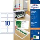 100 AVERY Zweckform Visitenkarten C32011-10 weiß