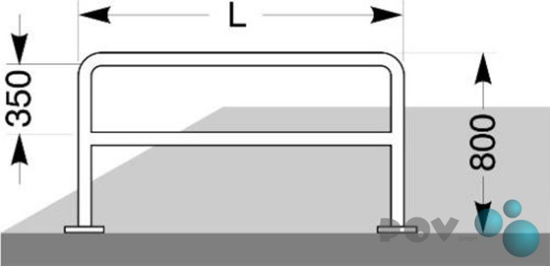 Fahrrad-Anlehnbügel 9111 Länge 100 cm zum Aufdübeln