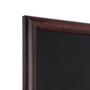 Kreidetafel Holz, abgerundeter Rahmen, dunkelbraun, 40x50 cm