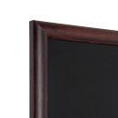 Kreidetafel Holz, abgerundeter Rahmen, dunkelbraun, 60x80 cm