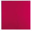 Magnetische Schreibtafel, Glastafel, 100 x 100 cm, rot
