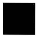 Magnetische Schreibtafel, Glastafel, 100 x 100 cm, schwarz